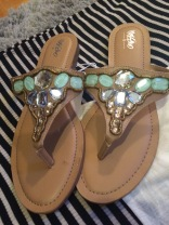 I love these embellished flip flops with all my heart!